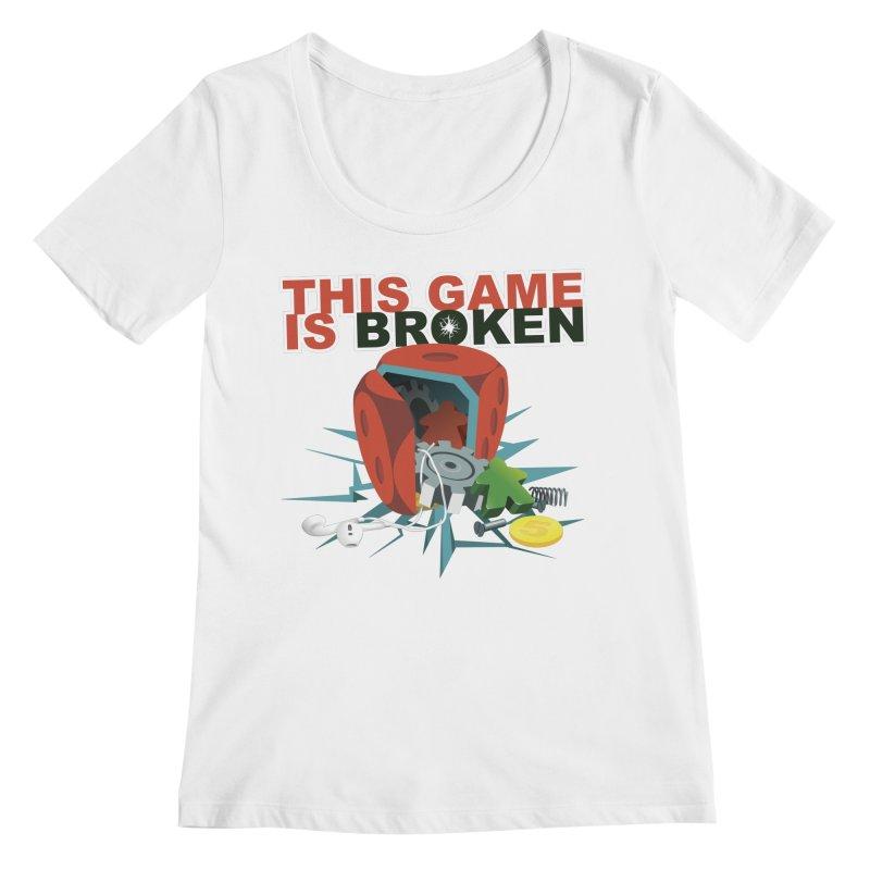 The Official This Game is Broken Brand Women's Regular Scoop Neck by This Game is Broken Shop