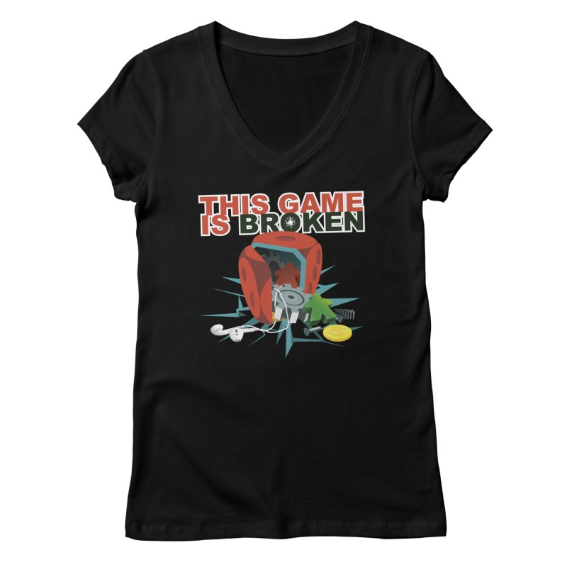 The Official This Game is Broken Brand Women's Regular V-Neck by This Game is Broken Shop