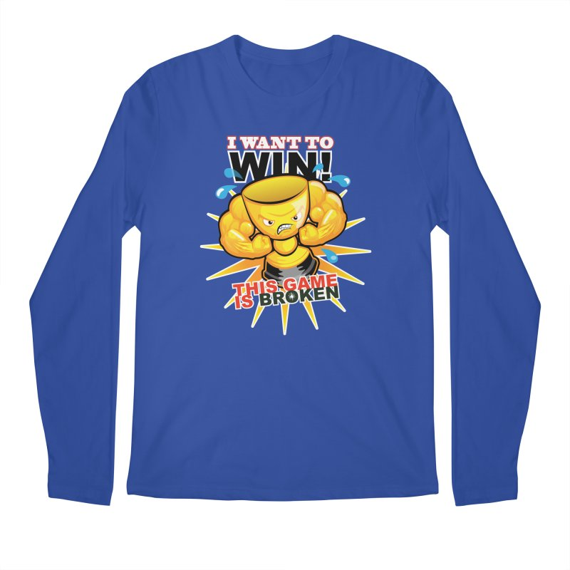 I want to WIN! Men's Regular Longsleeve T-Shirt by This Game is Broken Shop
