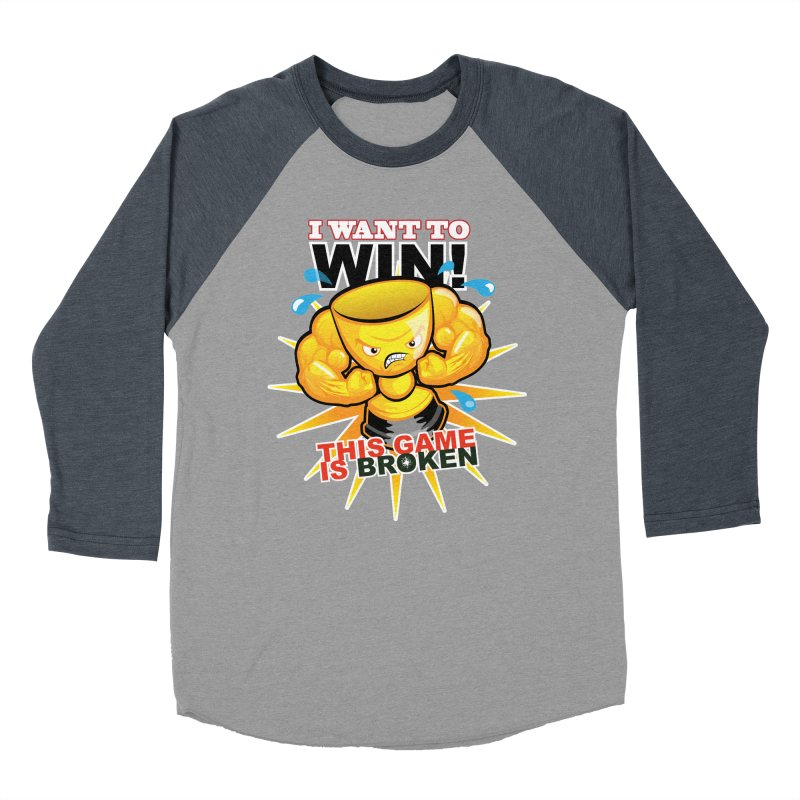 I want to WIN! Women's Baseball Triblend Longsleeve T-Shirt by This Game is Broken Shop