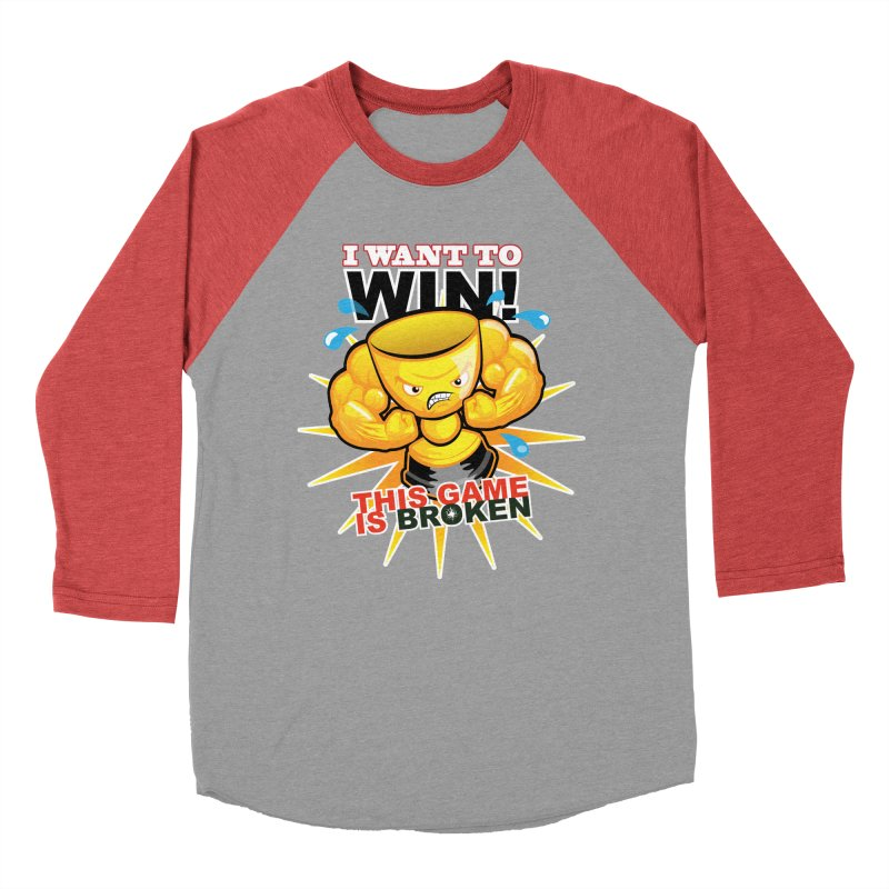 I want to WIN! Men's Baseball Triblend Longsleeve T-Shirt by This Game is Broken Shop