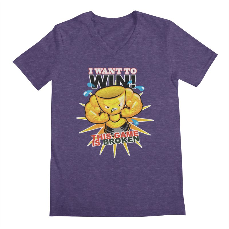 I want to WIN! Men's Regular V-Neck by This Game is Broken Shop
