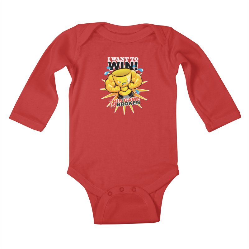 I want to WIN! Kids Baby Longsleeve Bodysuit by This Game is Broken Shop