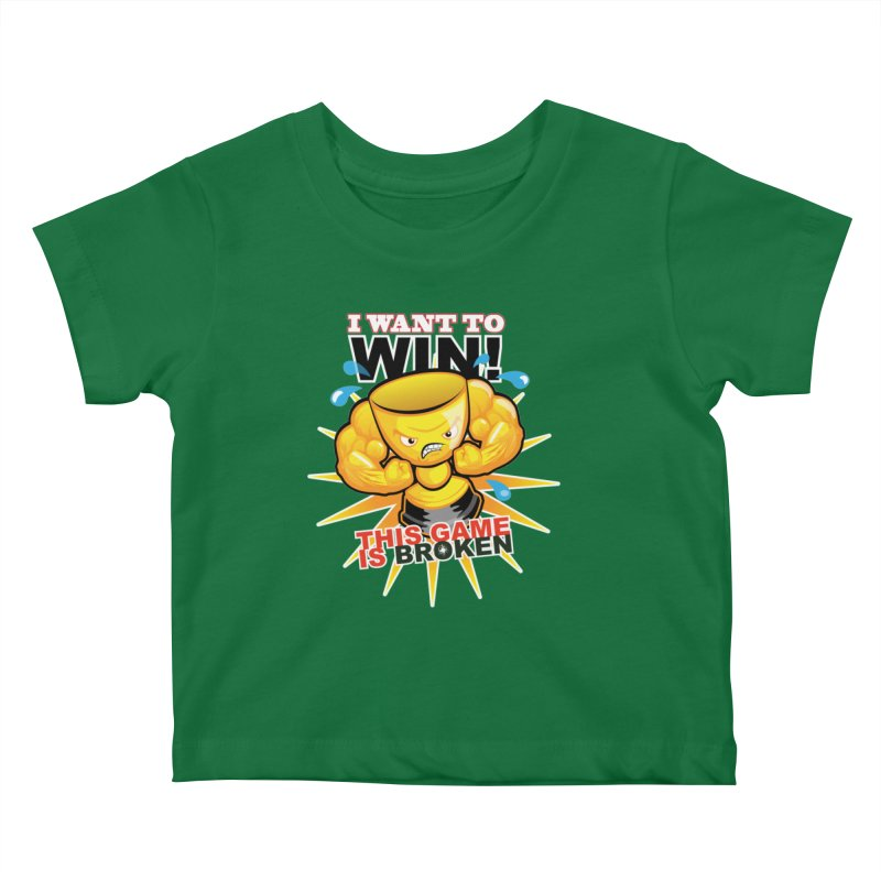 I want to WIN! Kids Baby T-Shirt by This Game is Broken Shop