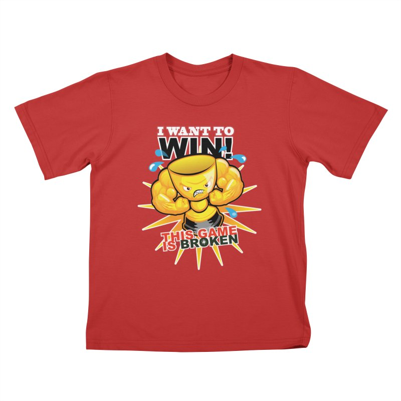 I want to WIN! Kids T-Shirt by This Game is Broken Shop