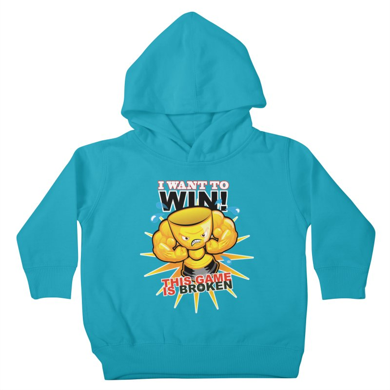 I want to WIN! Kids Toddler Pullover Hoody by This Game is Broken Shop