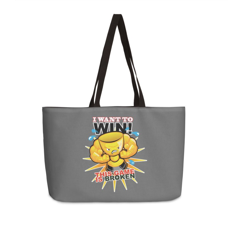 I want to WIN! Accessories Weekender Bag Bag by This Game is Broken Shop