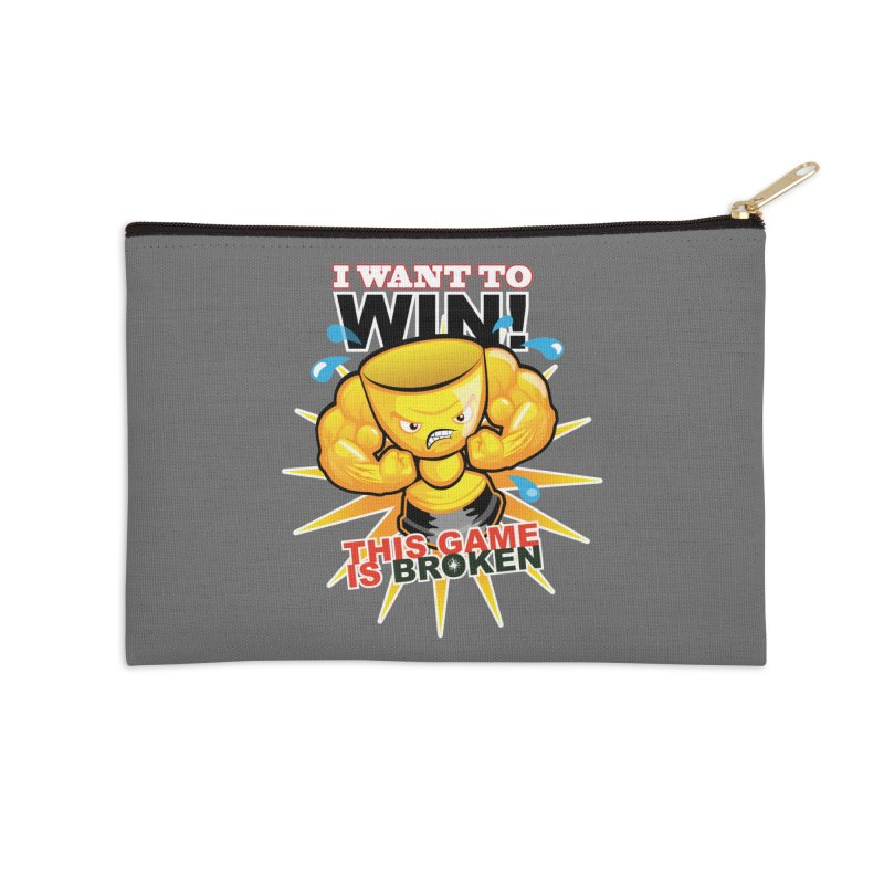 I want to WIN! Accessories Zip Pouch by This Game is Broken Shop