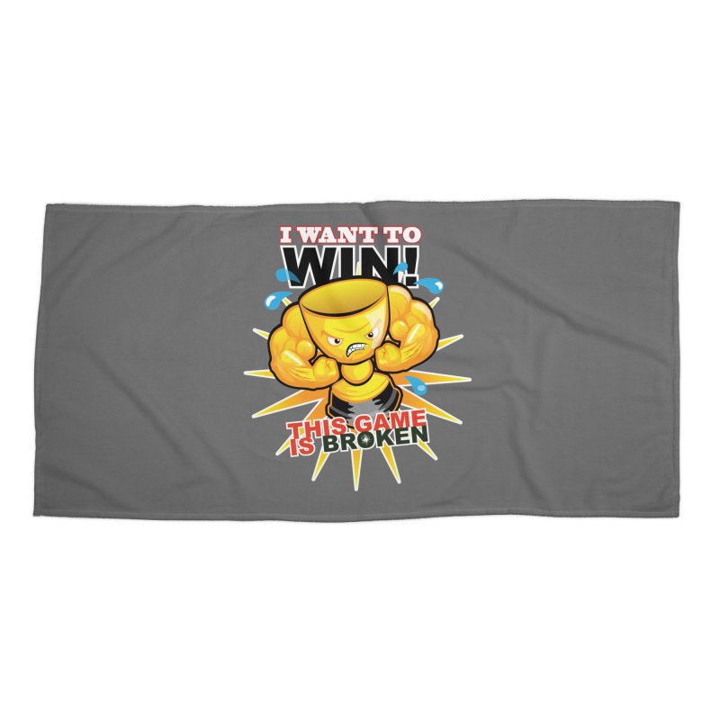 I want to WIN! Accessories Beach Towel by This Game is Broken Shop
