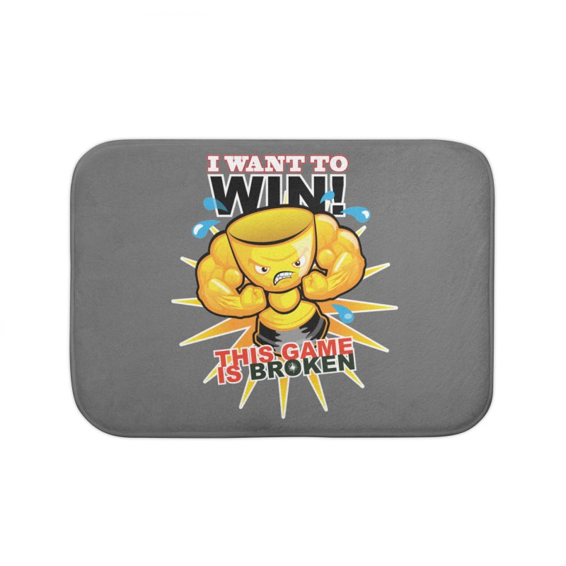 I want to WIN! Home Bath Mat by This Game is Broken Shop