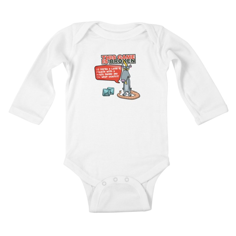 What am I? Kids Baby Longsleeve Bodysuit by This Game is Broken Shop