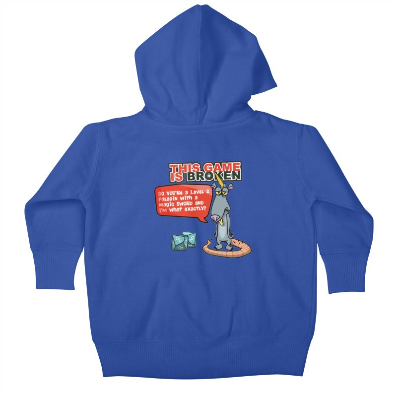 What am I? Kids Baby Zip-Up Hoody by This Game is Broken Shop