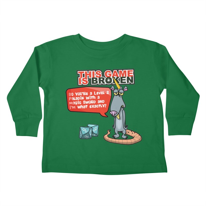 What am I? Kids Toddler Longsleeve T-Shirt by This Game is Broken Shop