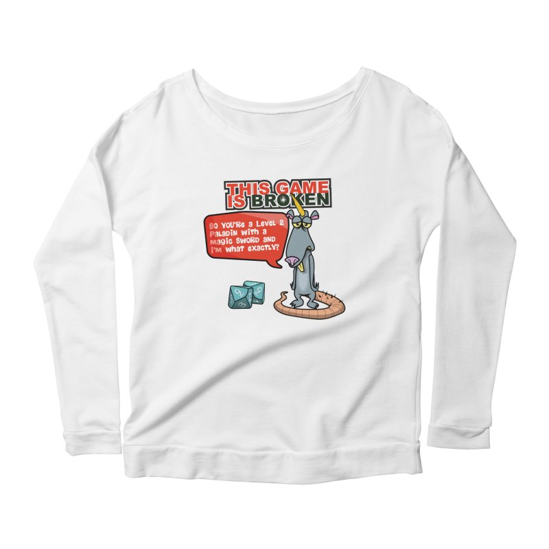 What am I? Women's Scoop Neck Longsleeve T-Shirt by This Game is Broken Shop