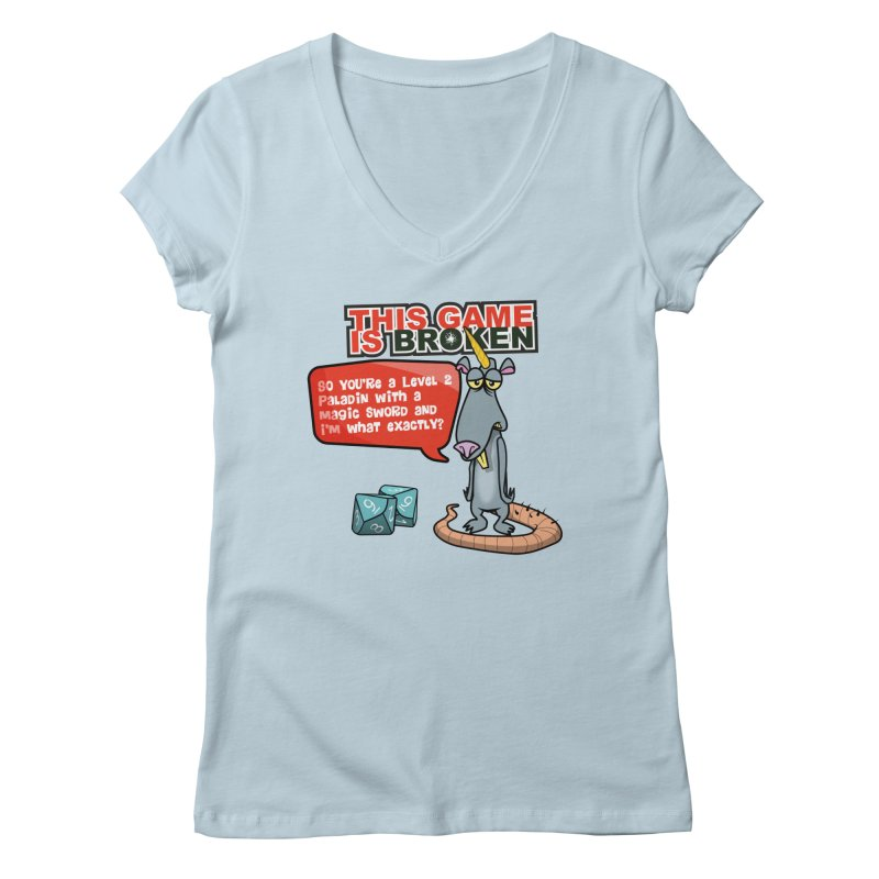 What am I? Women's Regular V-Neck by This Game is Broken Shop