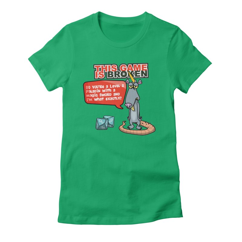 What am I? Women's Fitted T-Shirt by This Game is Broken Shop