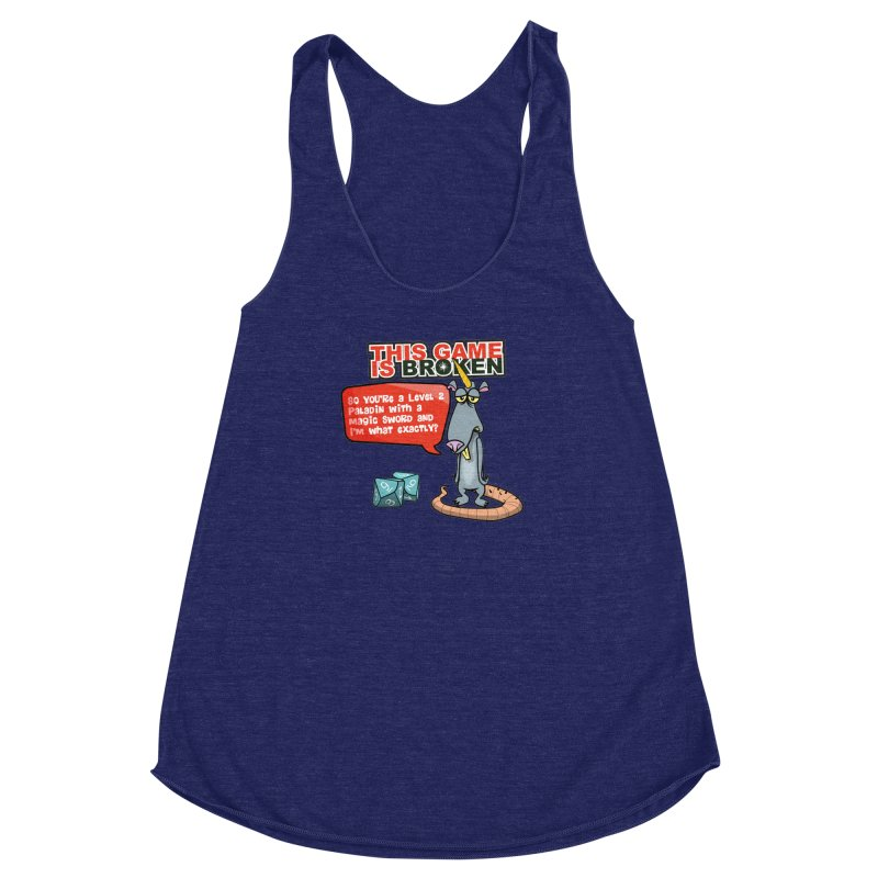 What am I? Women's Racerback Triblend Tank by This Game is Broken Shop