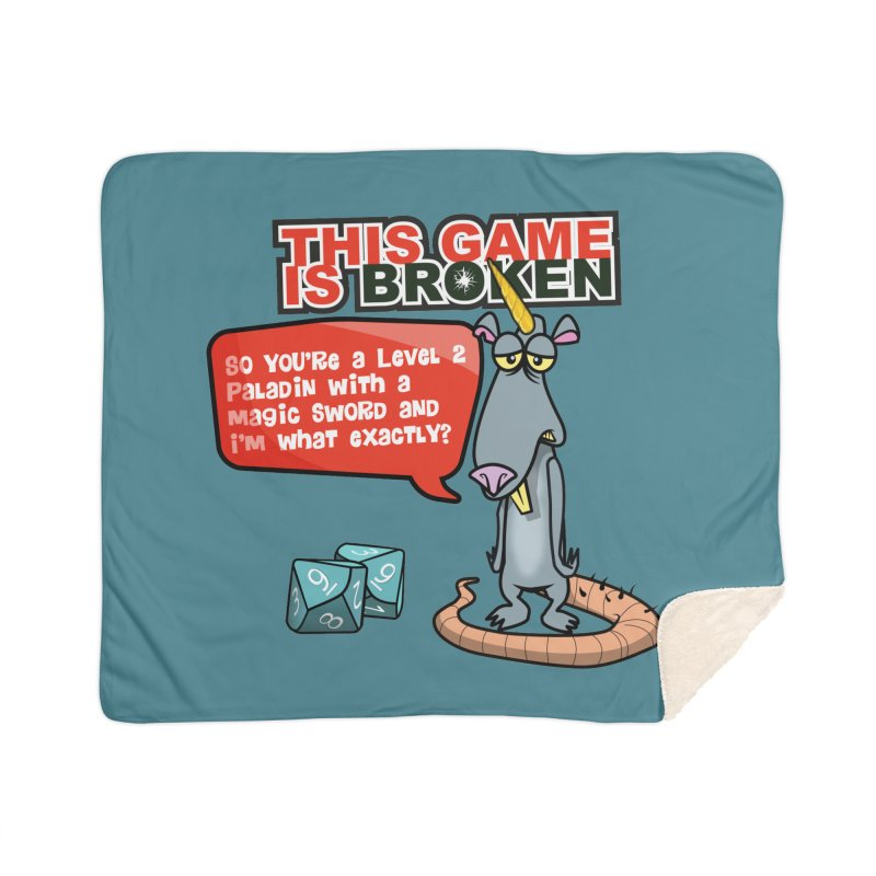 What am I? Home Sherpa Blanket Blanket by This Game is Broken Shop