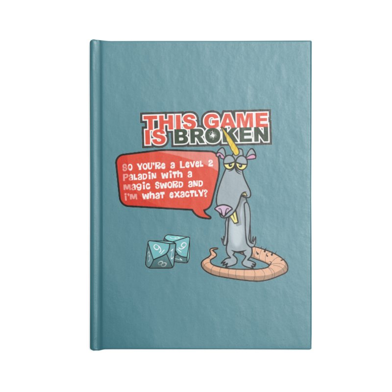 What am I? Accessories Lined Journal Notebook by This Game is Broken Shop