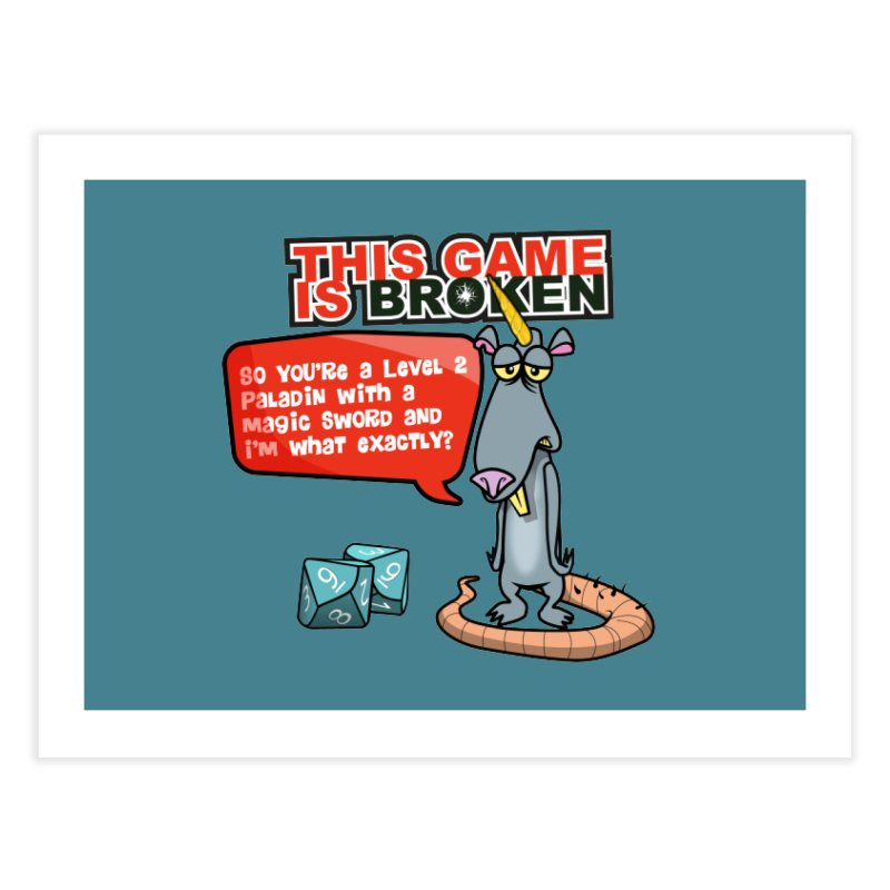 What am I? Home Fine Art Print by This Game is Broken Shop