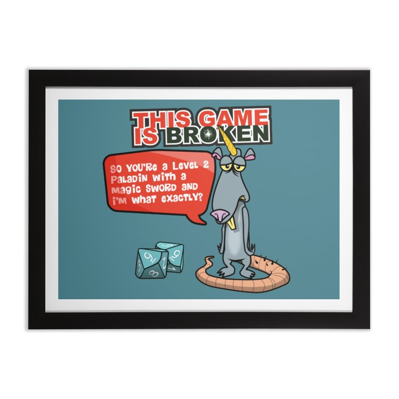 What am I? Home Framed Fine Art Print by This Game is Broken Shop