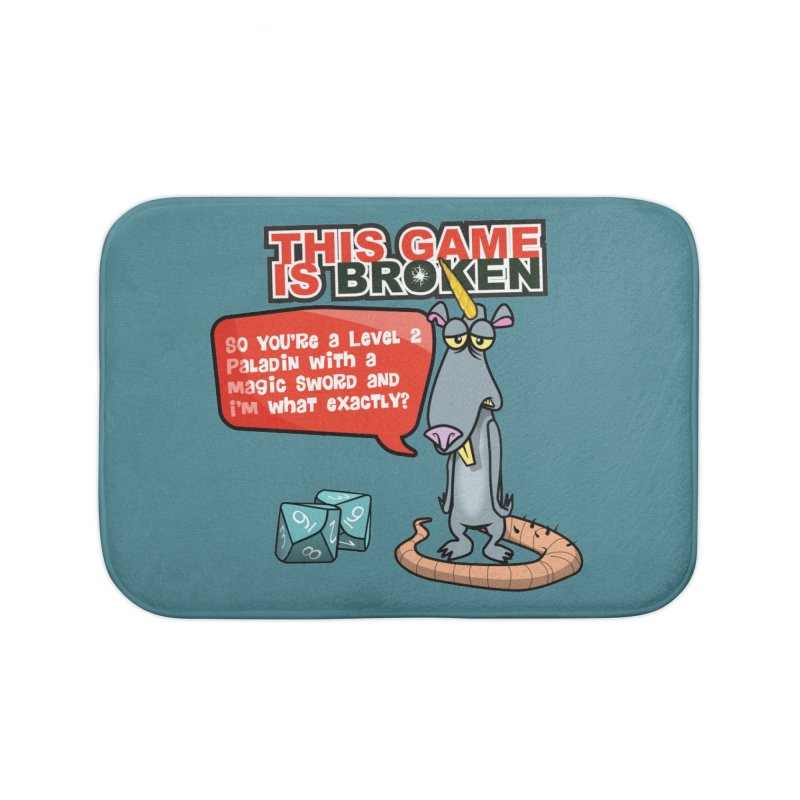 What am I? Home Bath Mat by This Game is Broken Shop