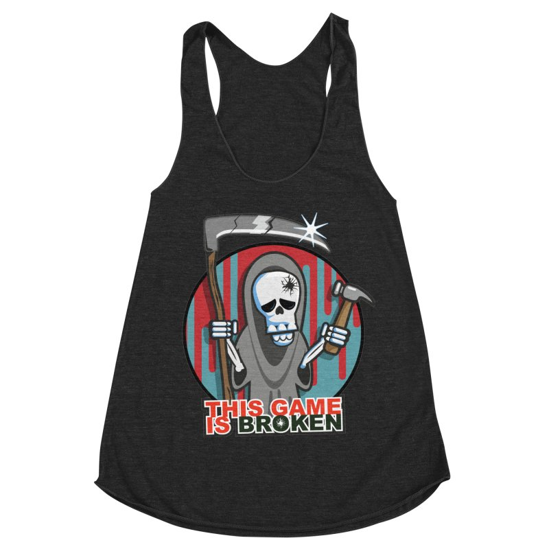 This Game Hates Me Women's Racerback Triblend Tank by This Game is Broken Shop