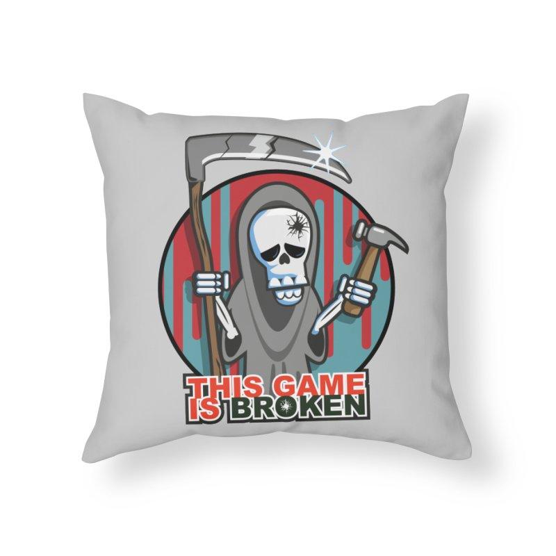This Game Hates Me Home Throw Pillow by This Game is Broken Shop