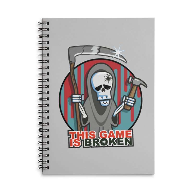 This Game Hates Me Accessories Lined Spiral Notebook by This Game is Broken Shop