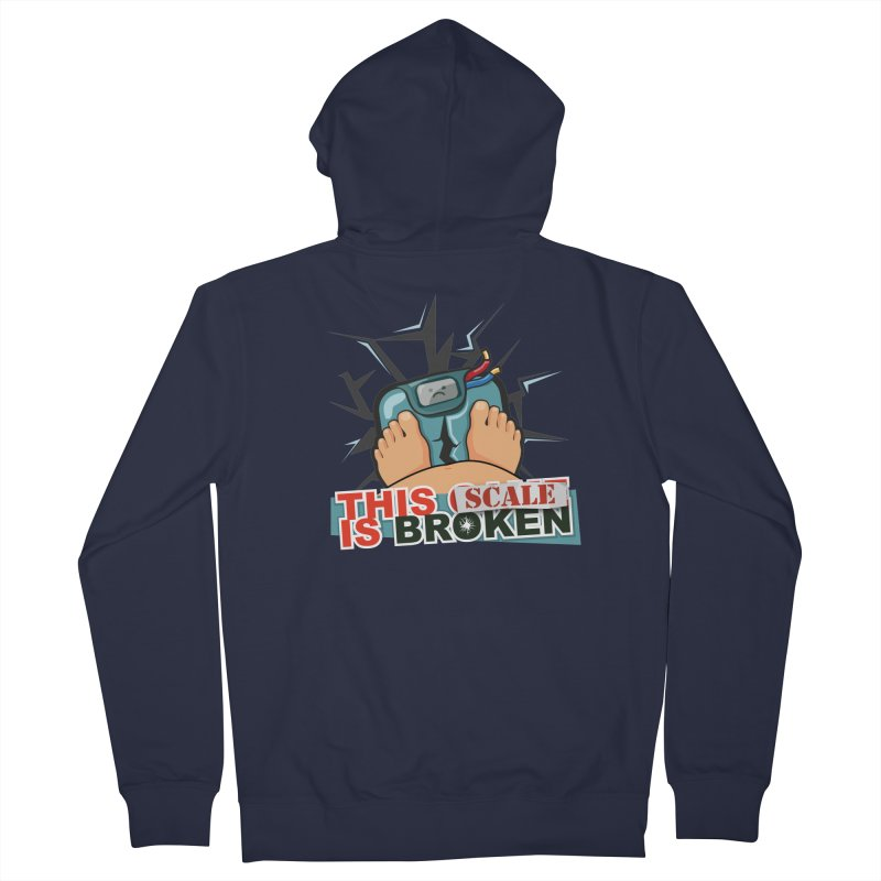 This Scale is Broken! Men's French Terry Zip-Up Hoody by This Game is Broken Shop