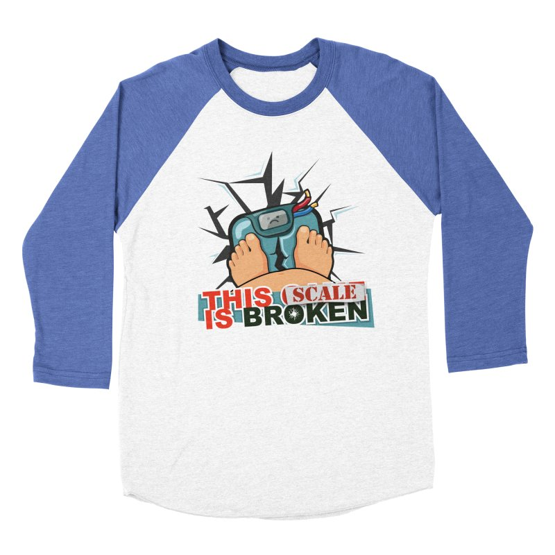 This Scale is Broken! Men's Baseball Triblend Longsleeve T-Shirt by This Game is Broken Shop