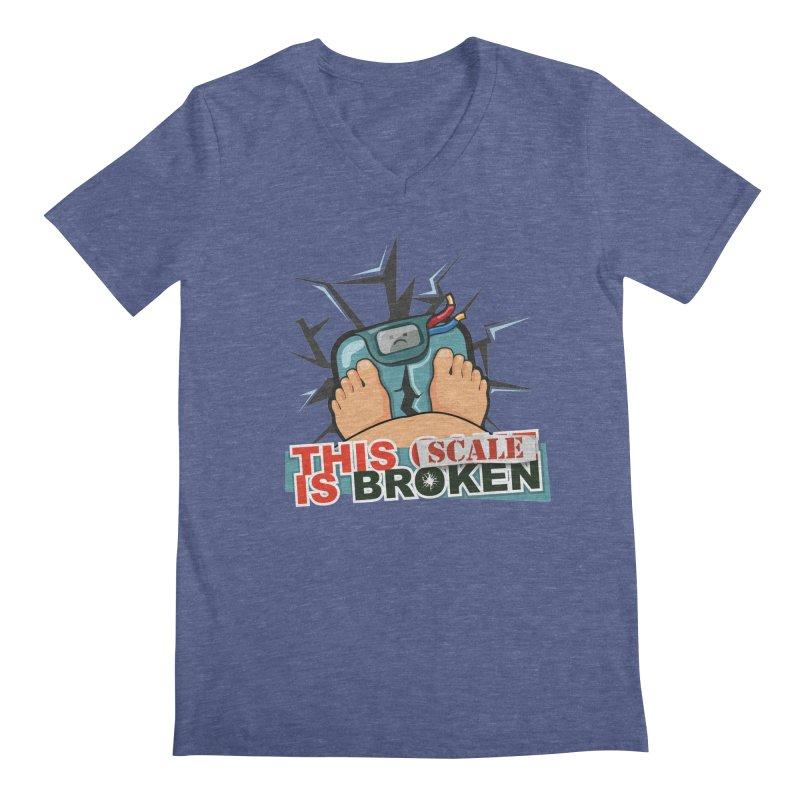 This Scale is Broken! Men's Regular V-Neck by This Game is Broken Shop