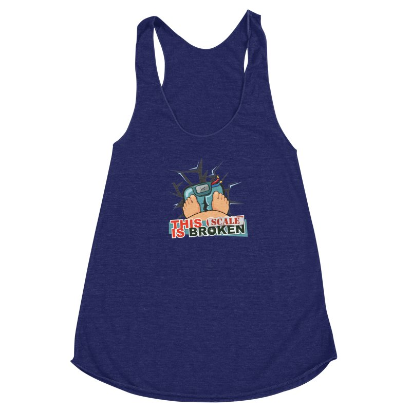 This Scale is Broken! Women's Racerback Triblend Tank by This Game is Broken Shop