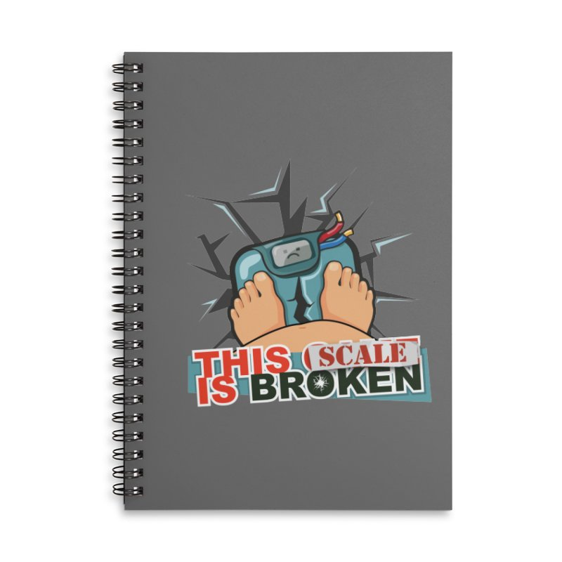 This Scale is Broken! Accessories Lined Spiral Notebook by This Game is Broken Shop