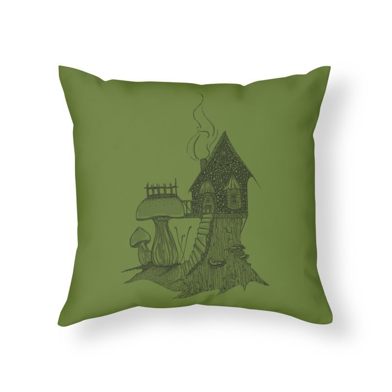 Toadstool Cottage Home Throw Pillow by Toadfoot Designs