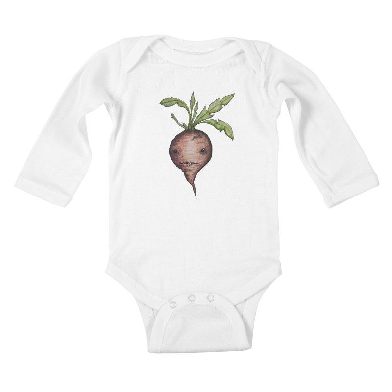 Beetroot Spirit Kids Baby Longsleeve Bodysuit by Thistleroot's Artist Shop