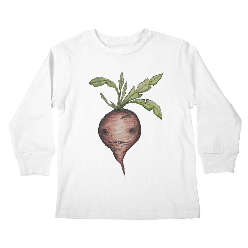 Beetroot Spirit Kids Longsleeve T-Shirt by Thistleroot's Artist Shop