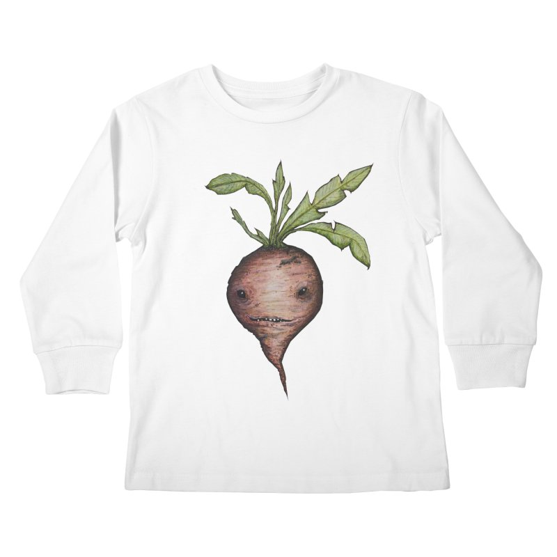 Beetroot Spirit Kids Longsleeve T-Shirt by Thistleroot's Artist Shop
