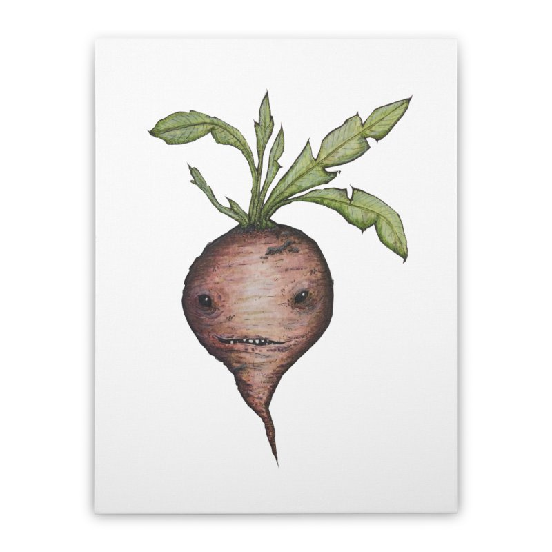 Beetroot Spirit Home Stretched Canvas by Thistleroot's Artist Shop