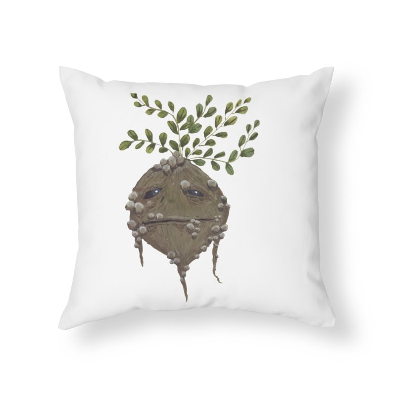 Mandrake Root Home Throw Pillow by Thistleroot's Artist Shop