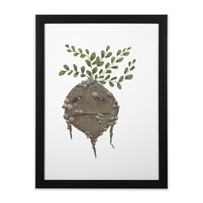 Mandrake Root Home Framed Fine Art Print by Thistleroot's Artist Shop