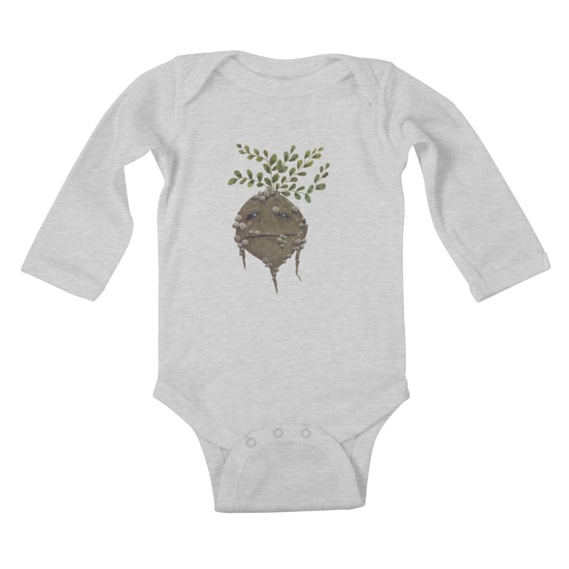 Mandrake Root Kids Baby Longsleeve Bodysuit by Thistleroot's Artist Shop