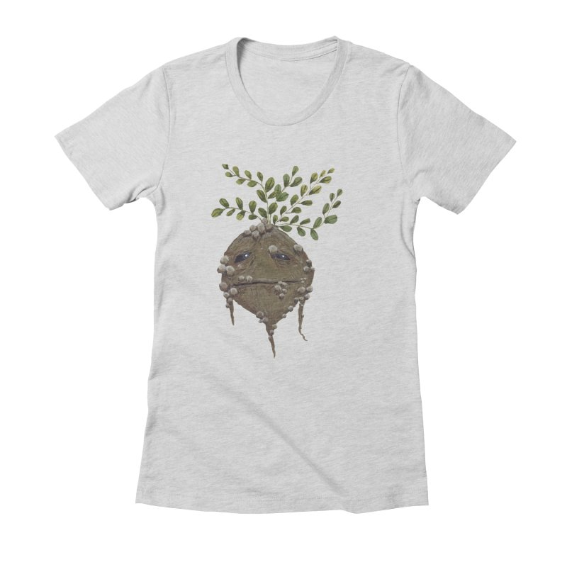 Mandrake Root Women's Fitted T-Shirt by Thistleroot's Artist Shop