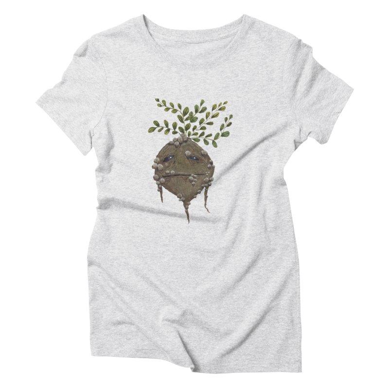 Mandrake Root Women's Triblend T-Shirt by Thistleroot's Artist Shop