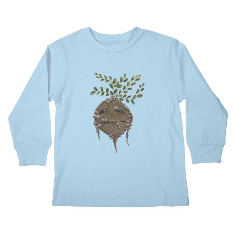 Mandrake Root Kids Longsleeve T-Shirt by Thistleroot's Artist Shop