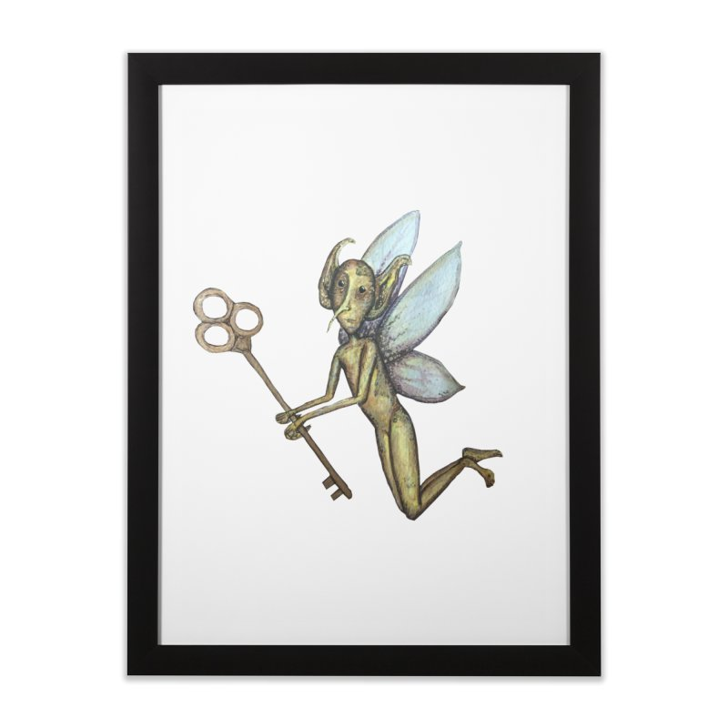 Key-Turn Fairy Home Framed Fine Art Print by Thistleroot's Artist Shop