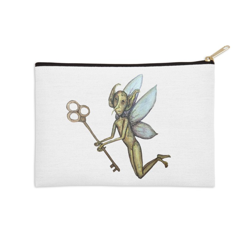 Key-Turn Fairy Accessories Zip Pouch by Thistleroot's Artist Shop