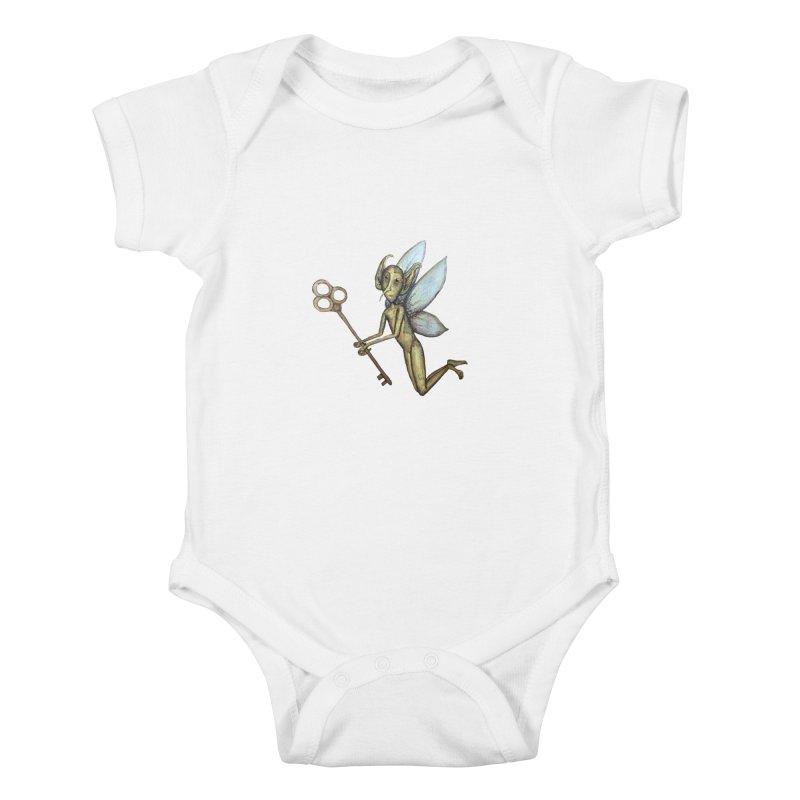 Key-Turn Fairy Kids Baby Bodysuit by Thistleroot's Artist Shop