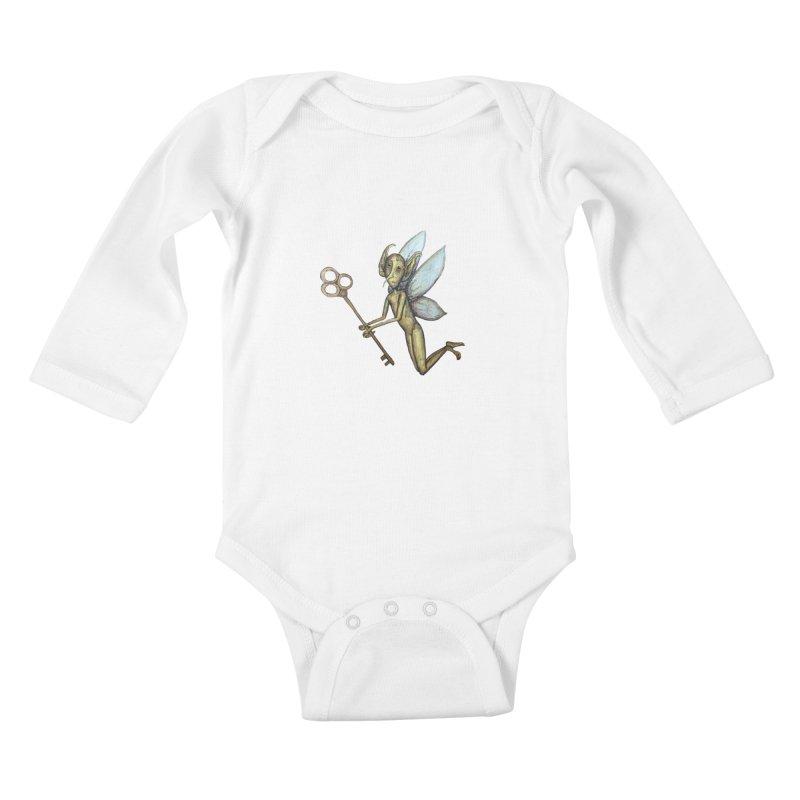 Key-Turn Fairy Kids Baby Longsleeve Bodysuit by Thistleroot's Artist Shop