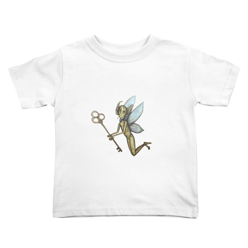 Key-Turn Fairy Kids Toddler T-Shirt by Thistleroot's Artist Shop